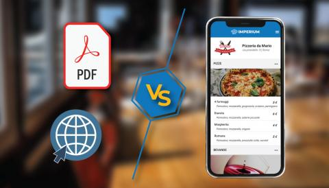 Menu digitale: differenze tra PDF, pagina web e webapp